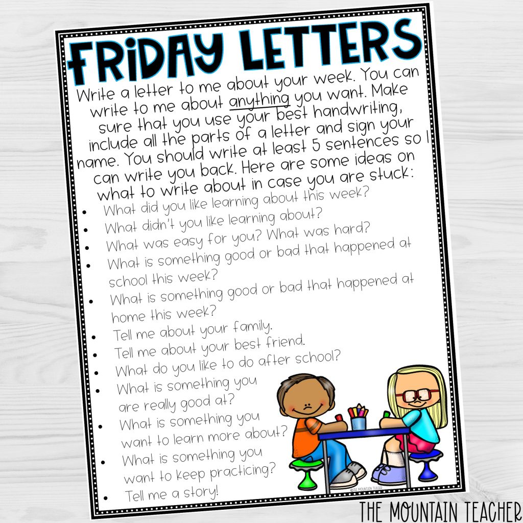 Connect with Students Using Friday Letters