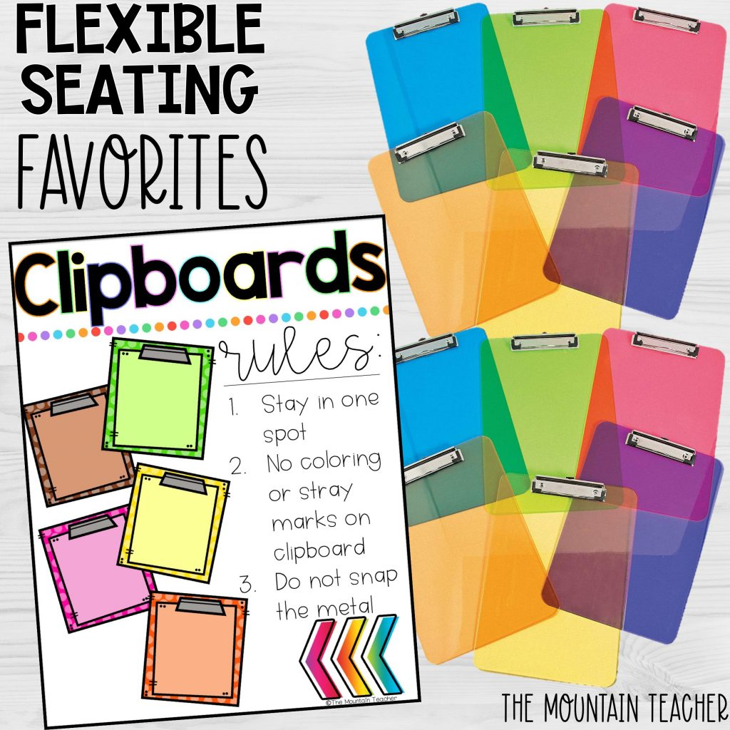 Flexible Seating Favorites Clipboards