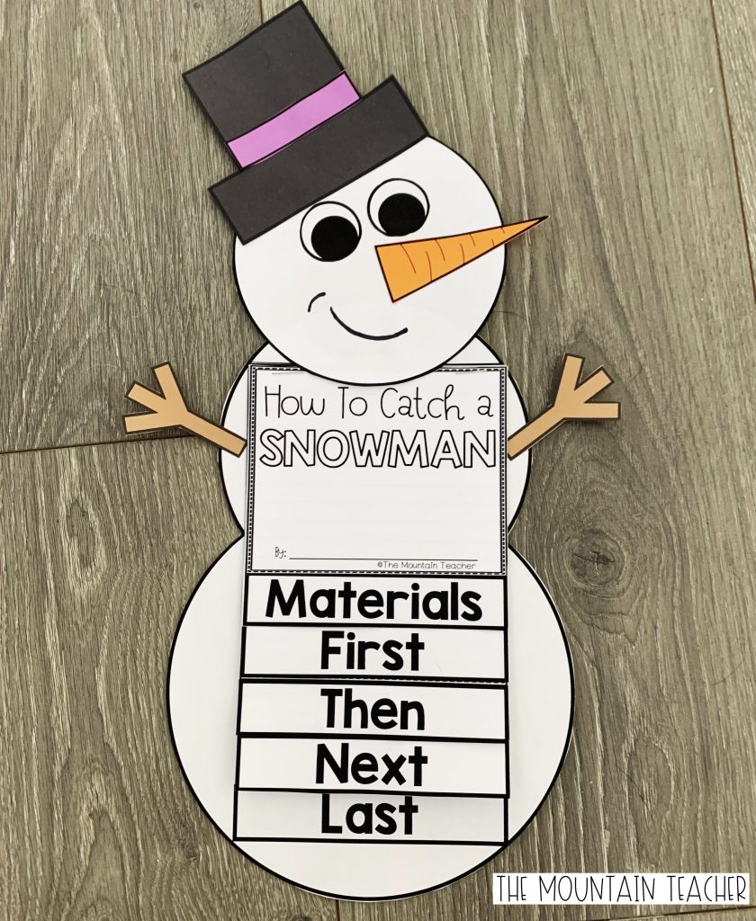 How to catch a snowman writing craft