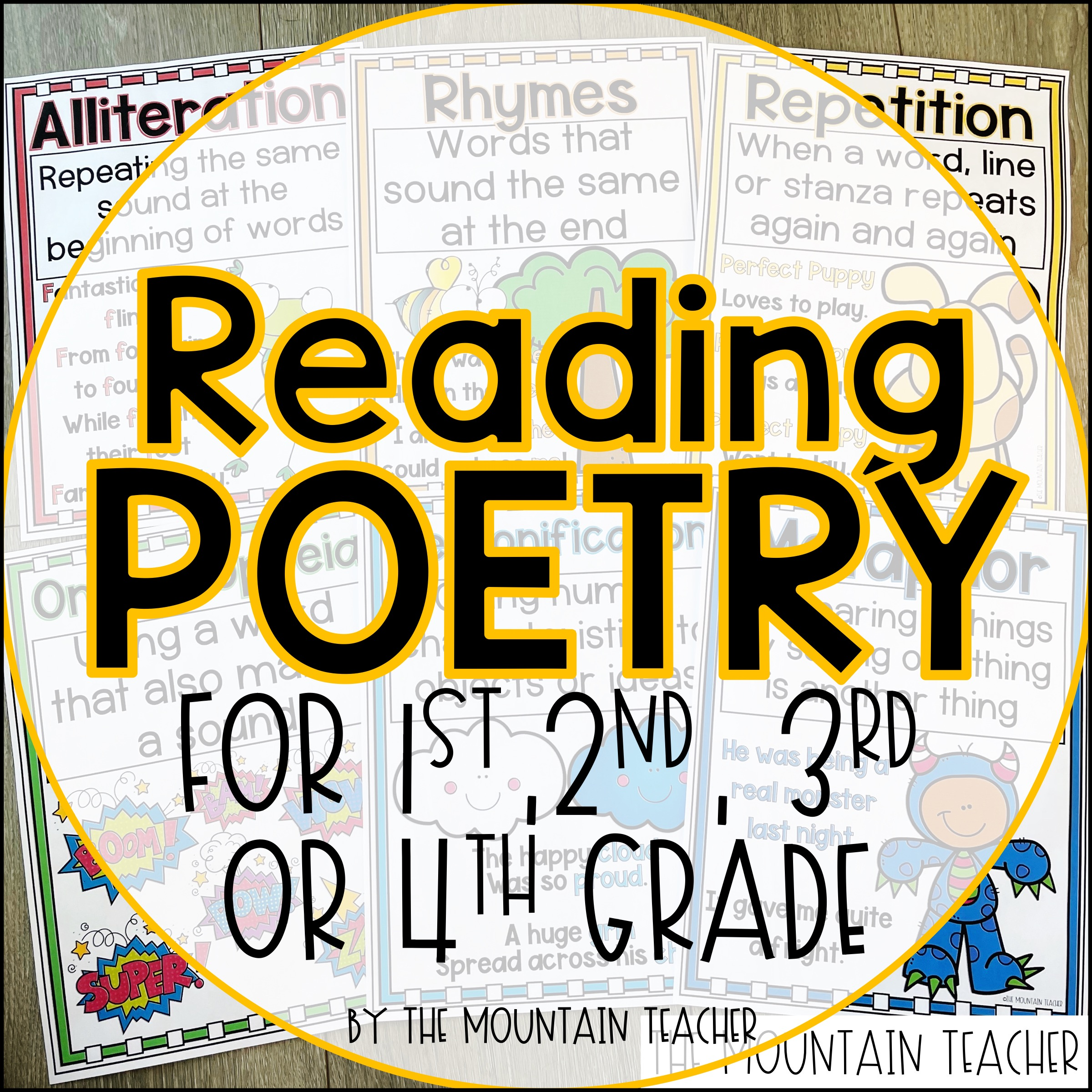Reading Poetry for 1st 2nd 3rd and 4th Grade Blog Post by The Mountain Teacher 404