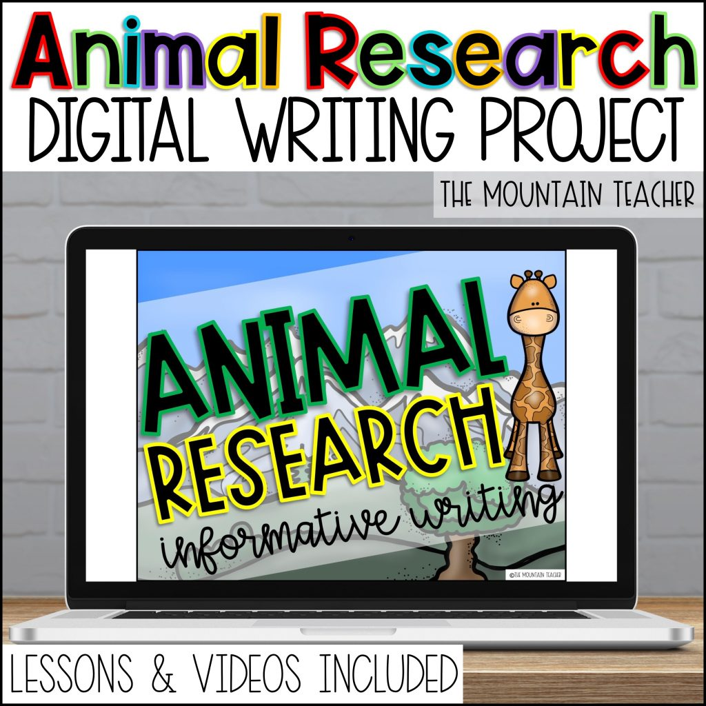 Digital Animal Research Report for Elementary Students01