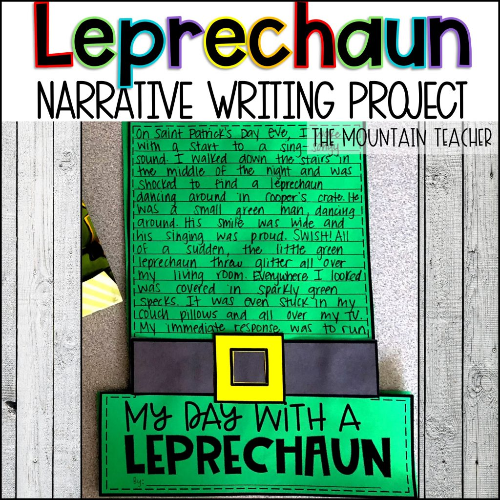 My Day With a Leprechaun Narrative Writing Project for Elementary Students