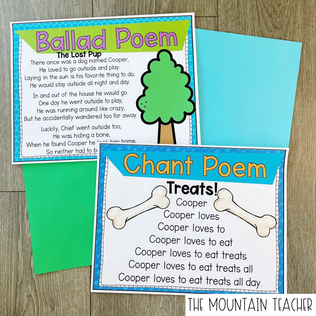 Ballad and Chant Poem Examples