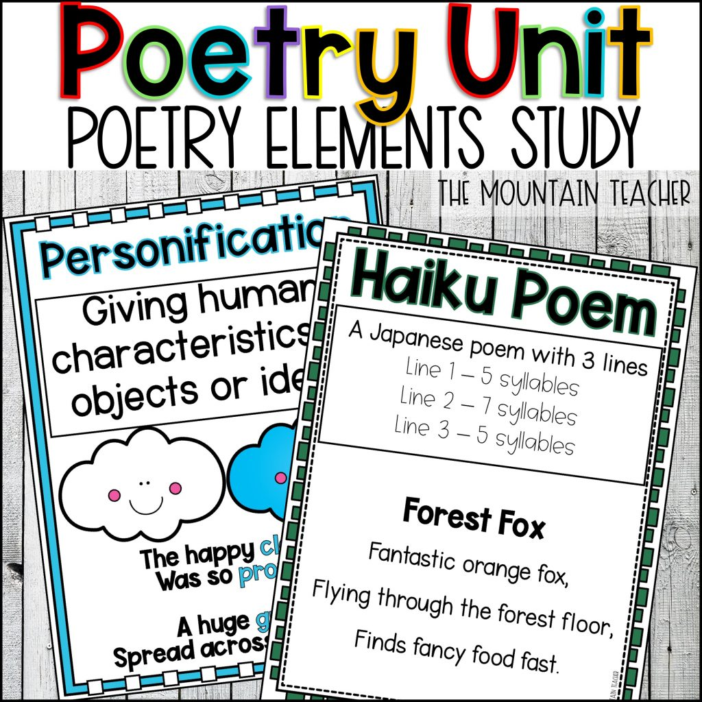 Poetry Reading and Writing Unit for Elementary Students03