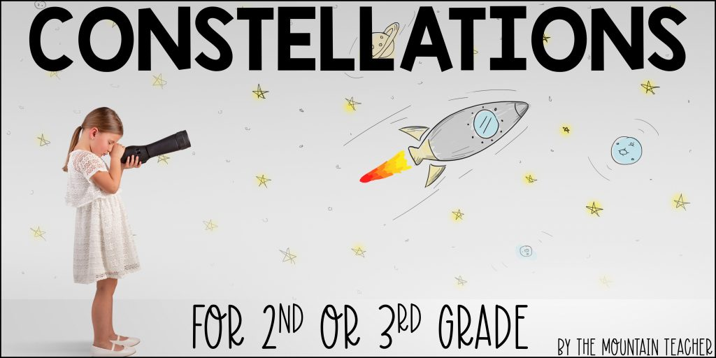 Constellations and stars for 2nd grade or 3rd grade students