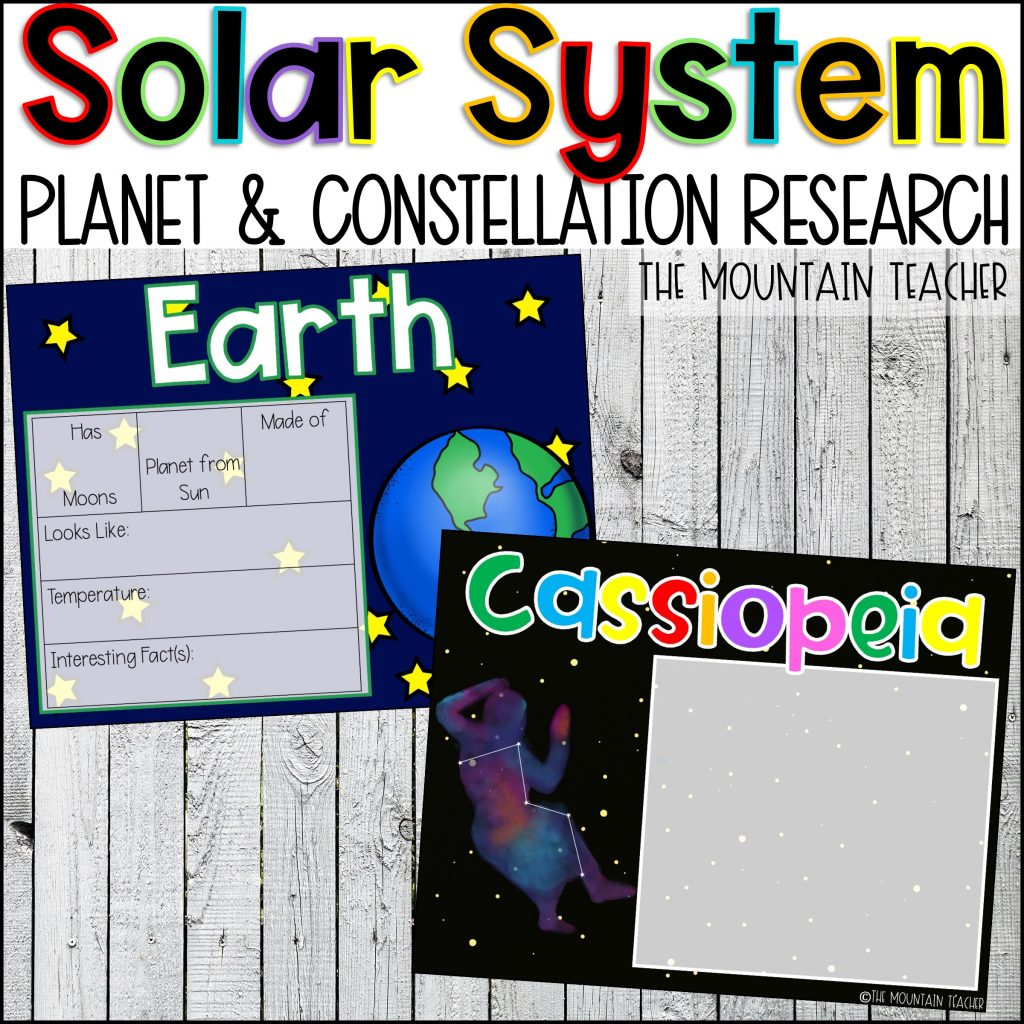 Solar System Unit Planet and Constellation Research By The Mountain Teacher 2nd Grade