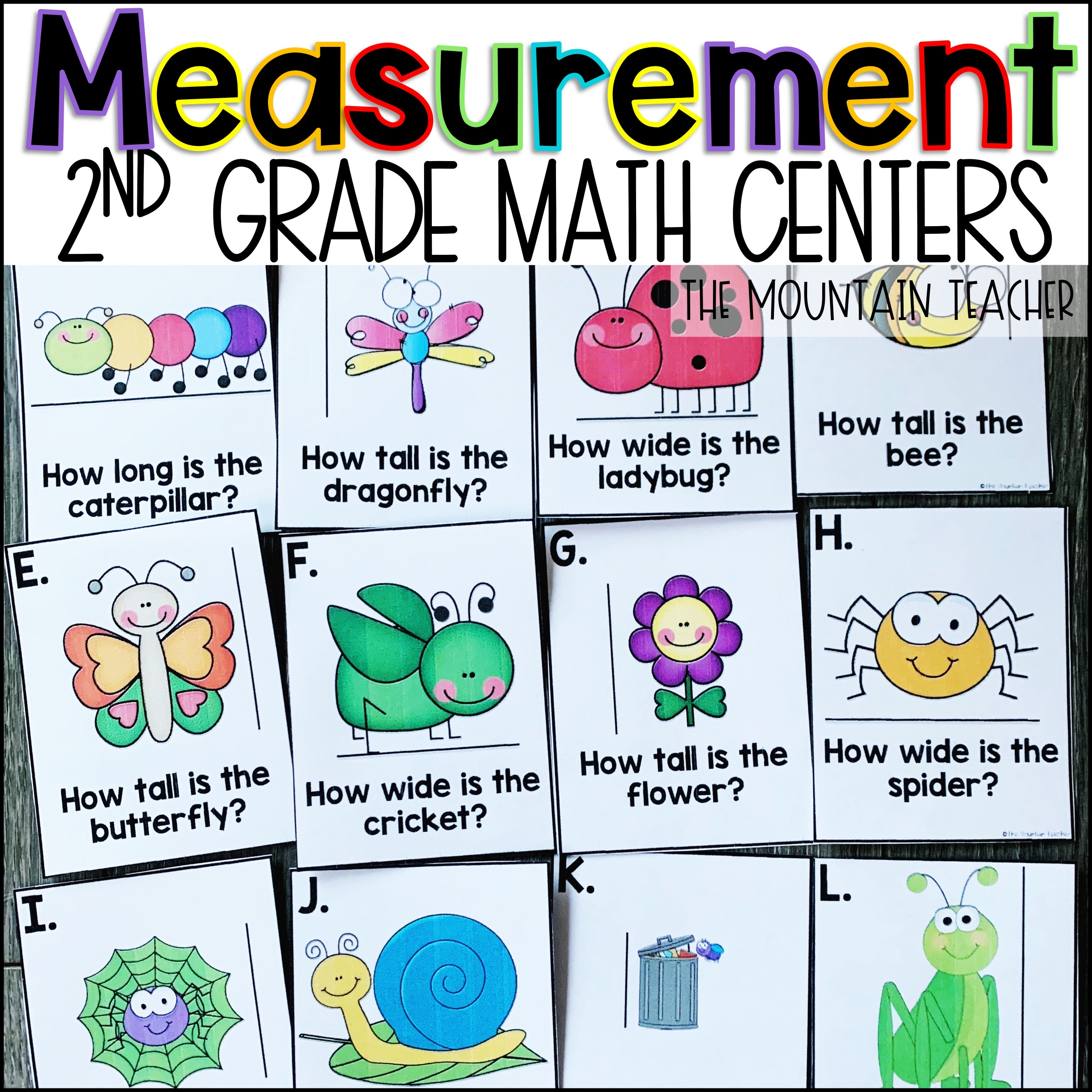 Measurement Centers for 2nd Grade By The Mountain Teacher