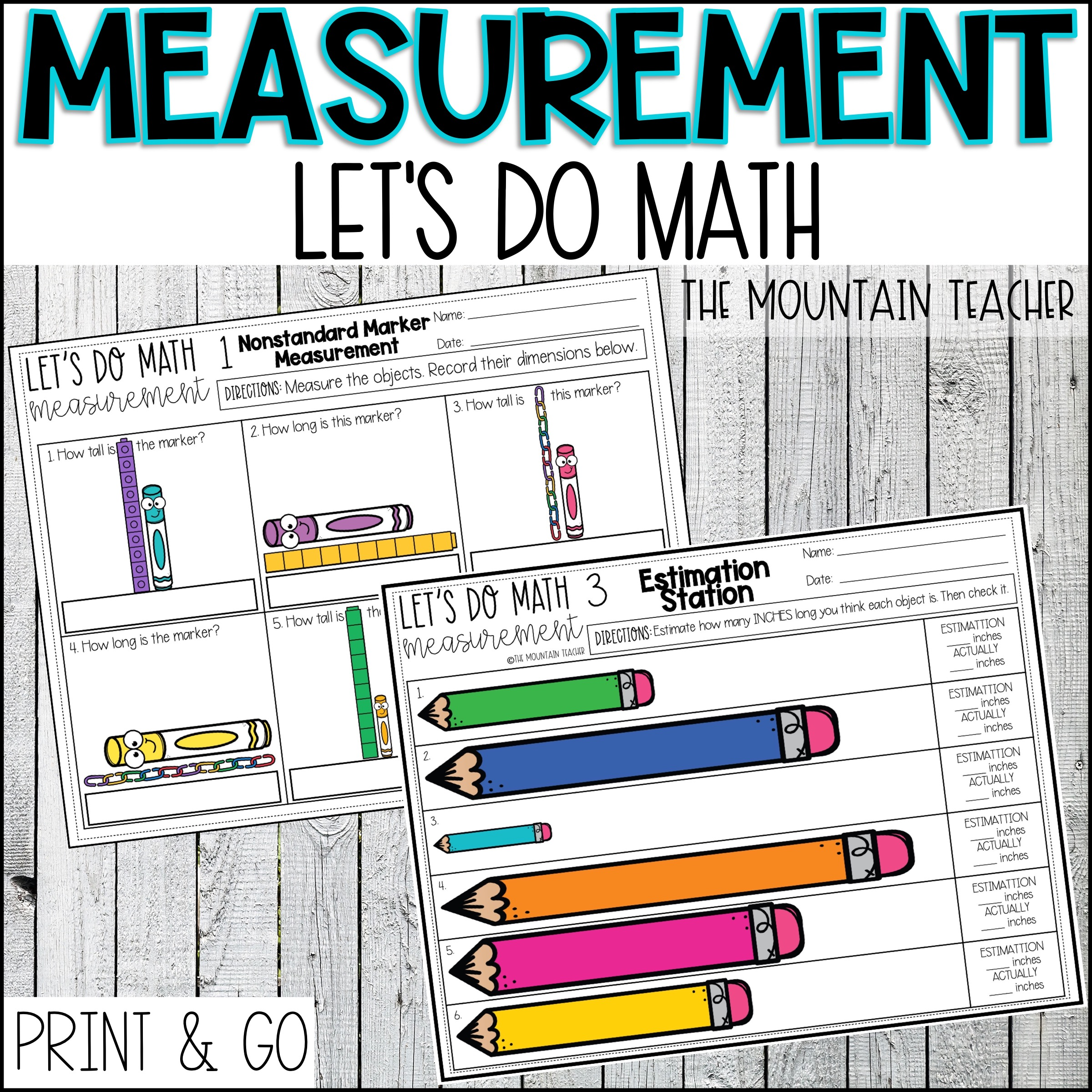 Measurement Unit for 2nd Grade By The Mountain Teacher