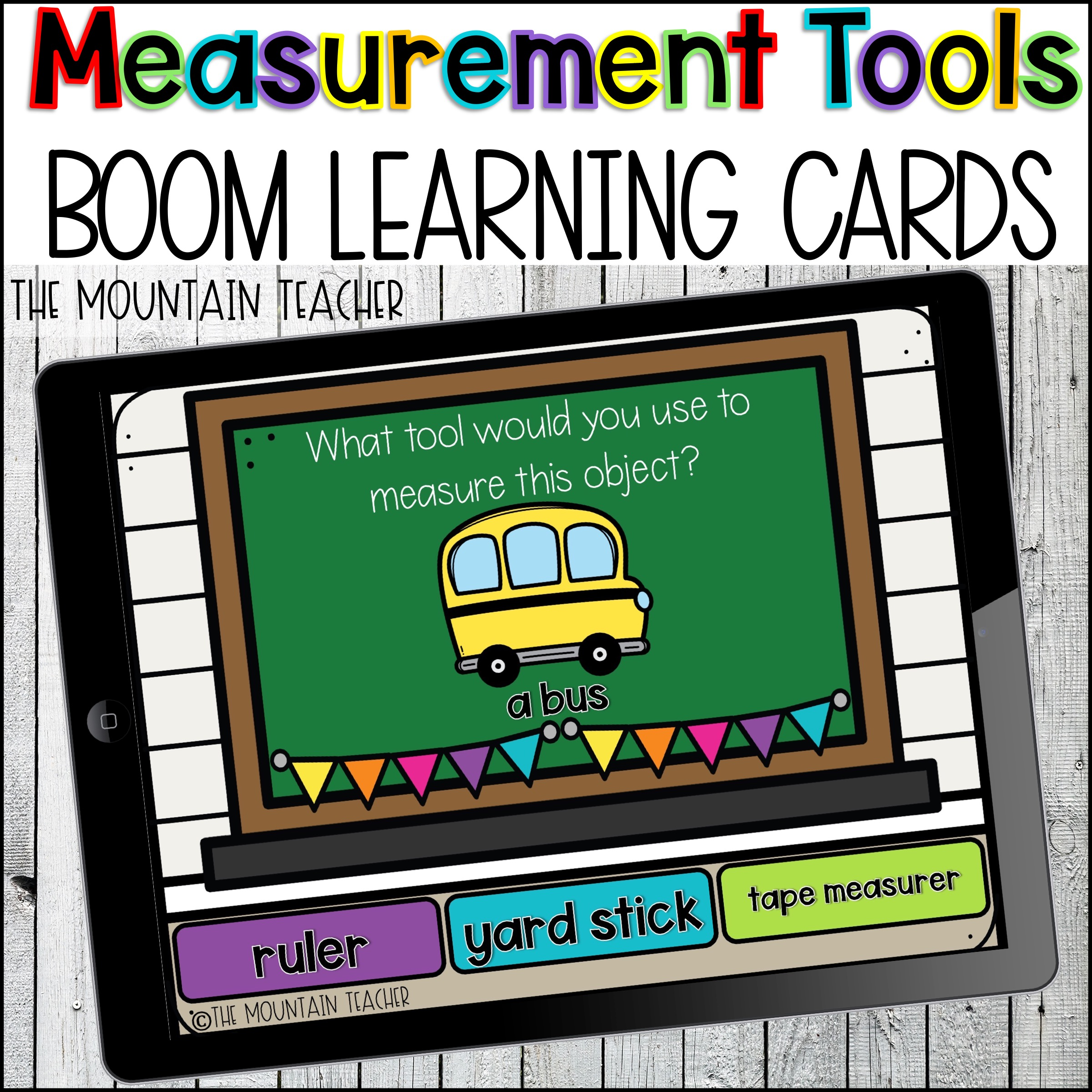 Measurement Tools Measurement Boom Learning Cards by The Mountain Teacher