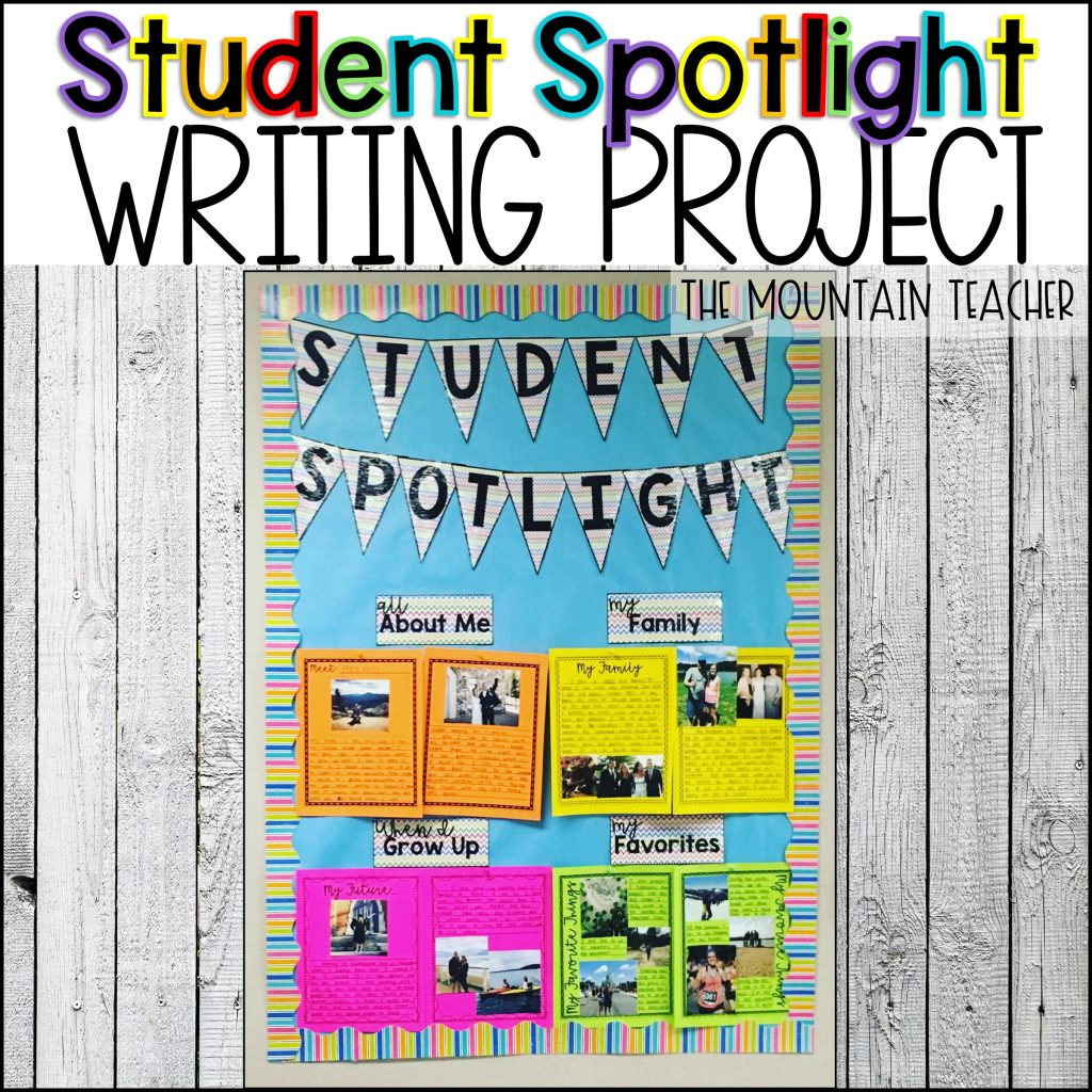 Student Spotlight Community Building for Classroom Activity SEL Social Emotional Learing Back to School