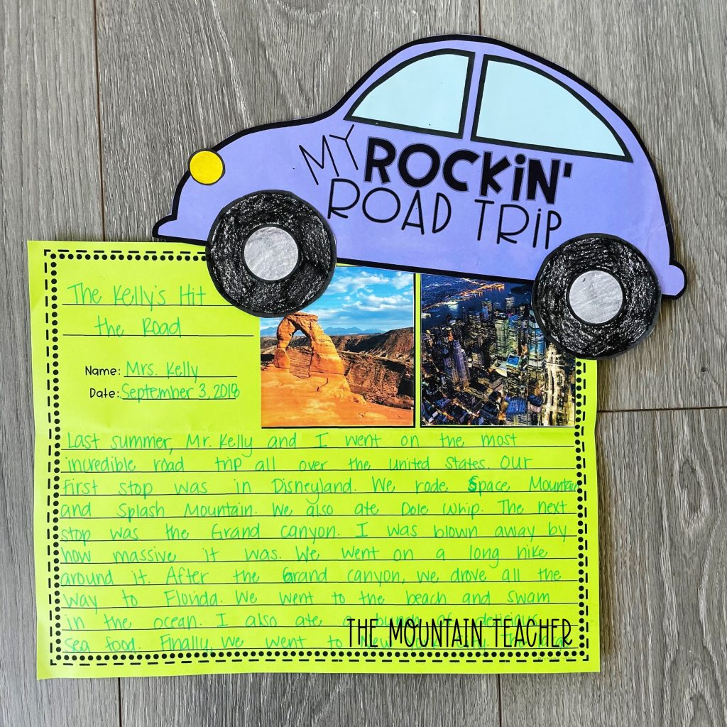 narrative writing activity round up - road trip craft and project