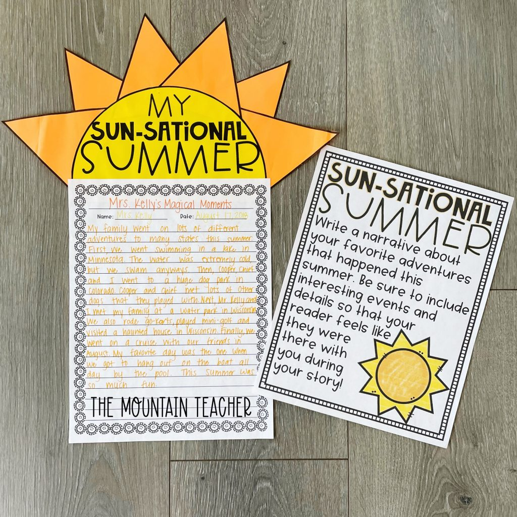 narrative writing activity round up - my summer craft and project