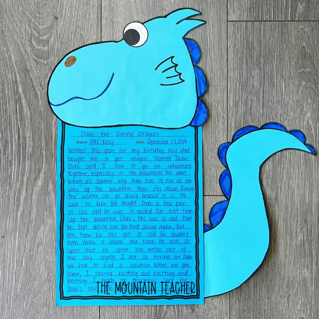 narrative writing activity round up - my pet dragon craft and project