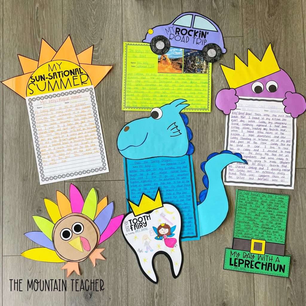 narrative writing activity round up - craft and project for the year