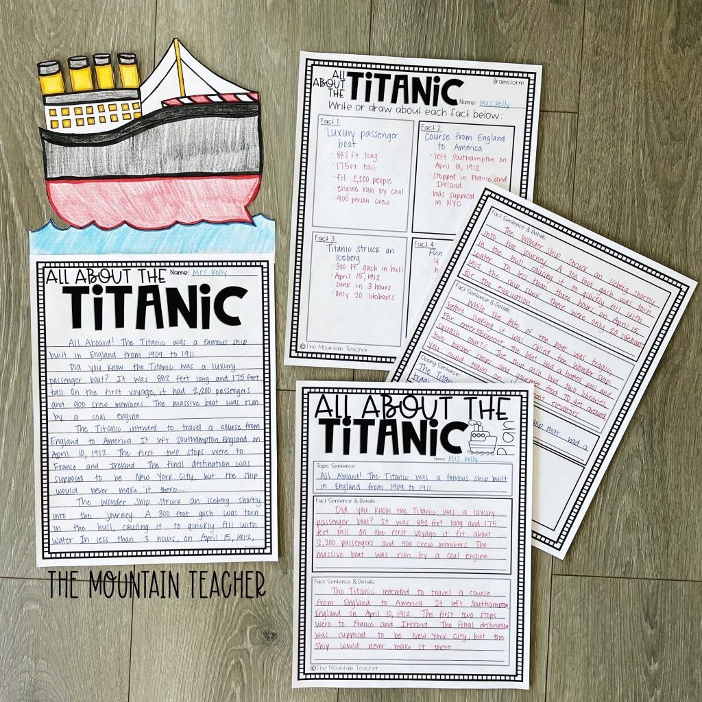 informative writing activity round up - the titanic research craft and project