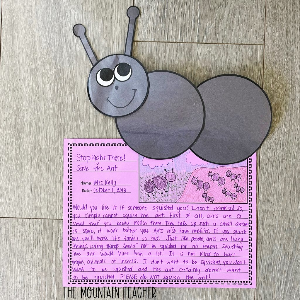 opinion persuasive writing activity round up - hey little ant craft and project
