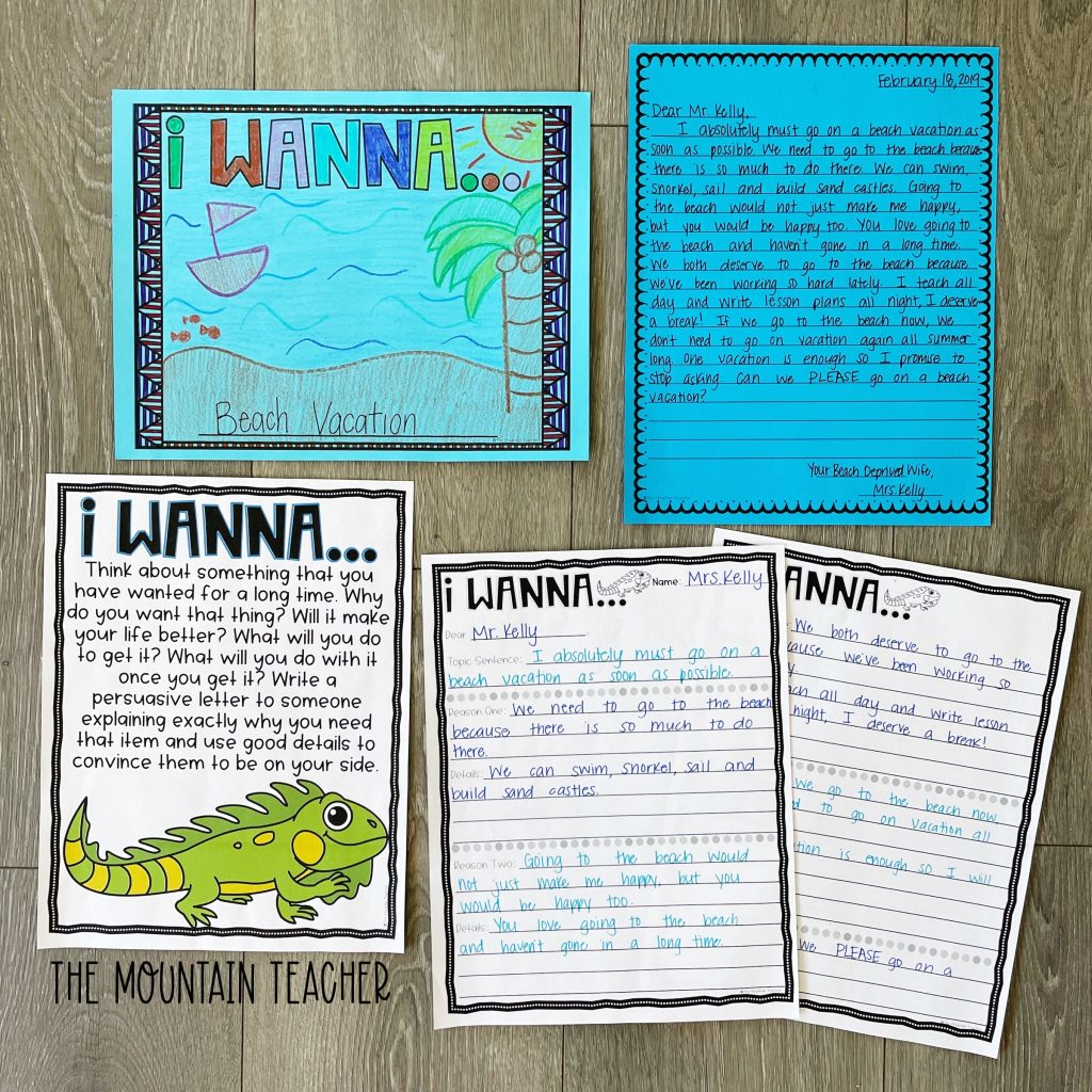 opinion persuasive writing activity round up - i wanna letter writing craft and project