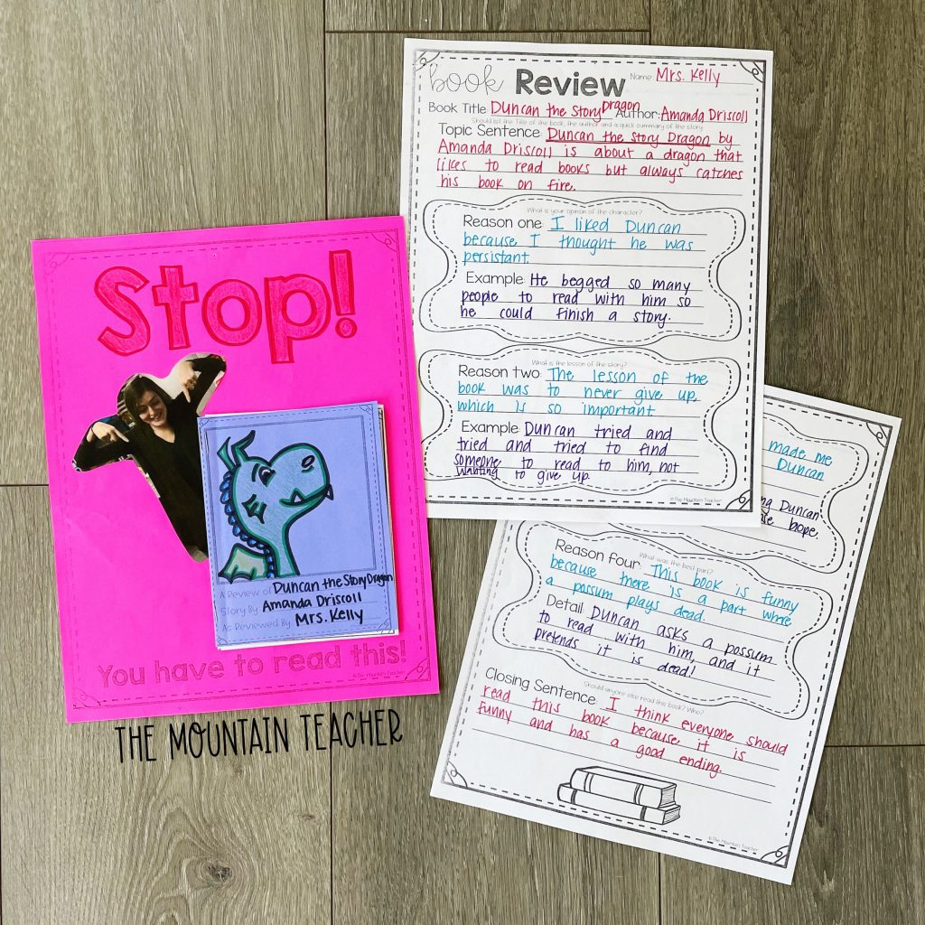 opinion persuasive writing activity round up - book review craft and project