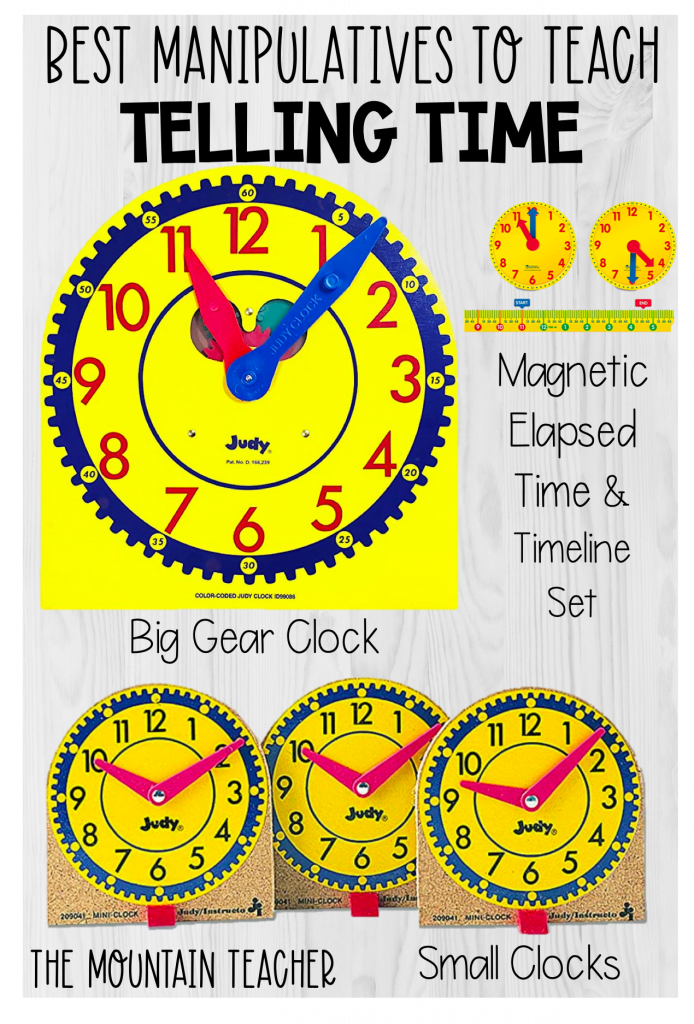 best manipulatives to teach telling time