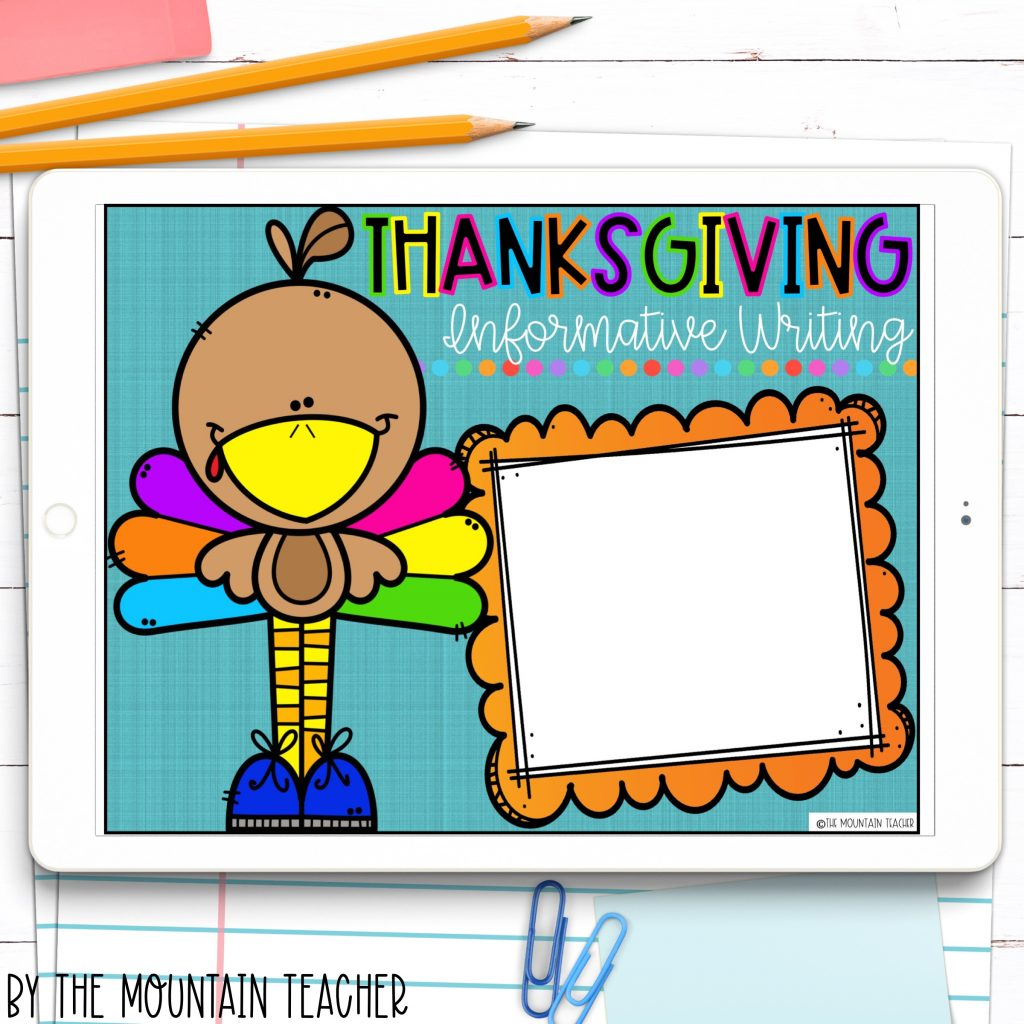 My thanksgiving dinner digital informative writing project