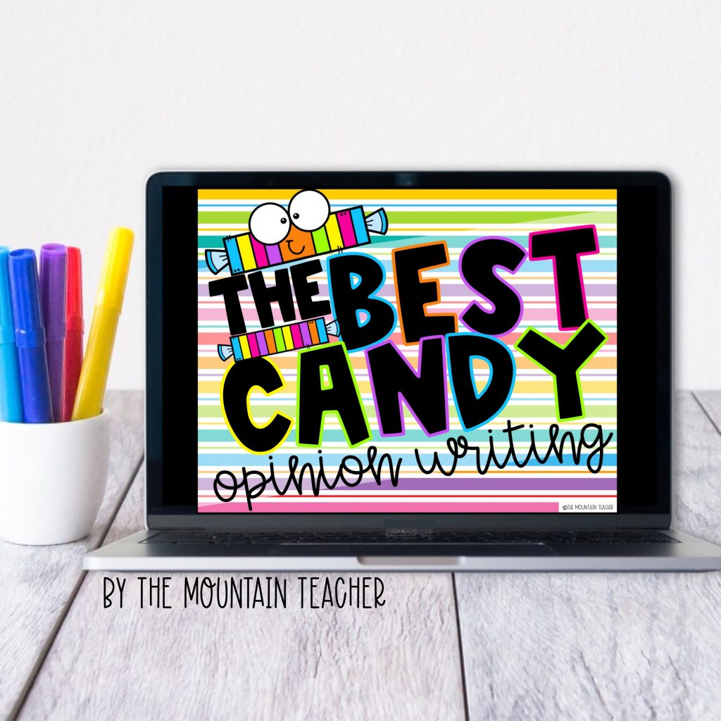 The best candy digital opinion writing activity