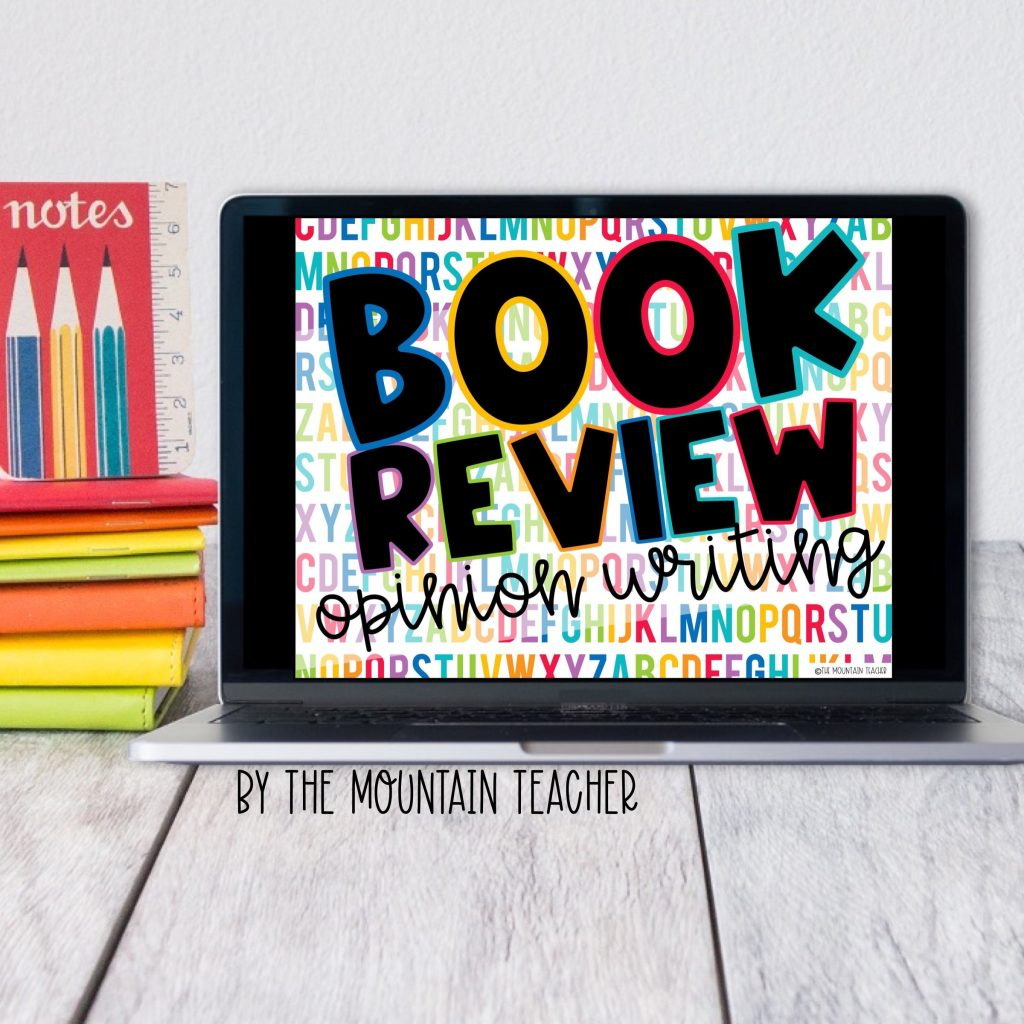 Book review digital opinion writing activity