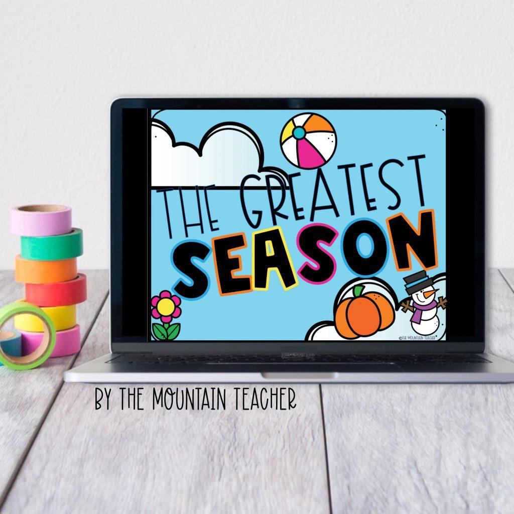 The greatest season digital opinion writing activity