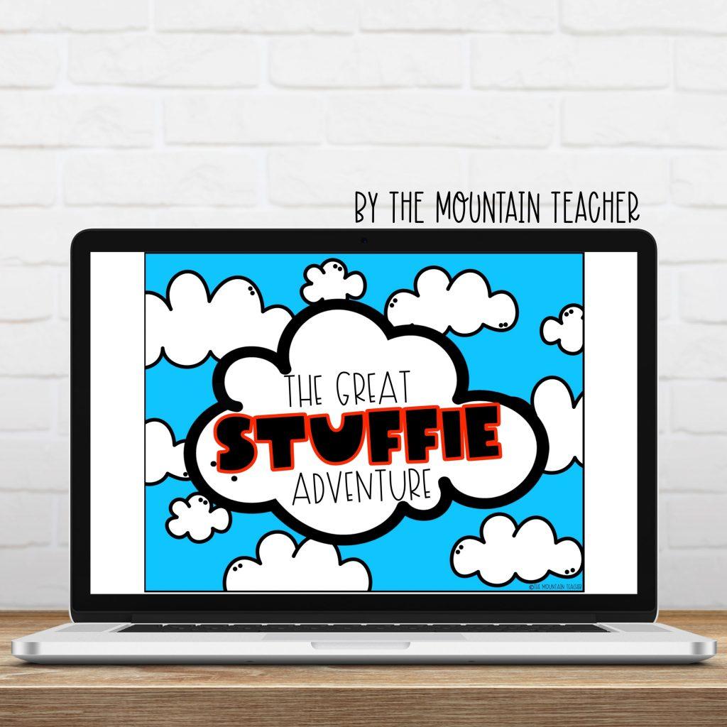 The great stuffie adventure digital imaginative narrative writing activity