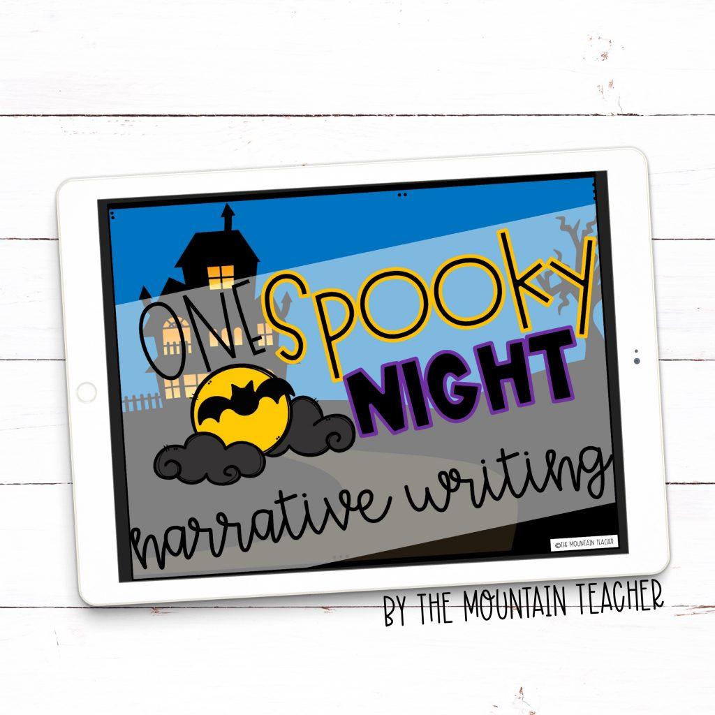 One spooky night digital imaginative narrative writing activity halloween