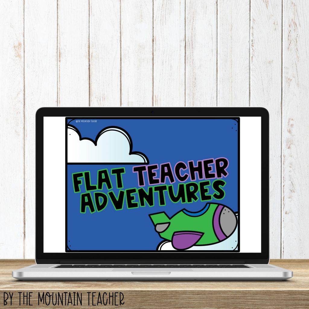 Flat teacher adventures digital imaginative narrative writing activity
