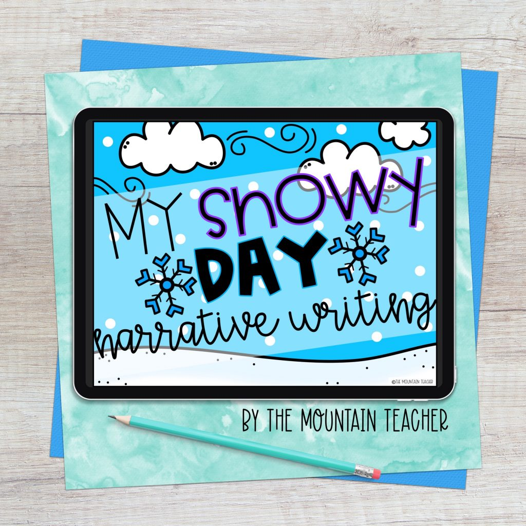My snowy day winter digital imaginative narrative writing activity