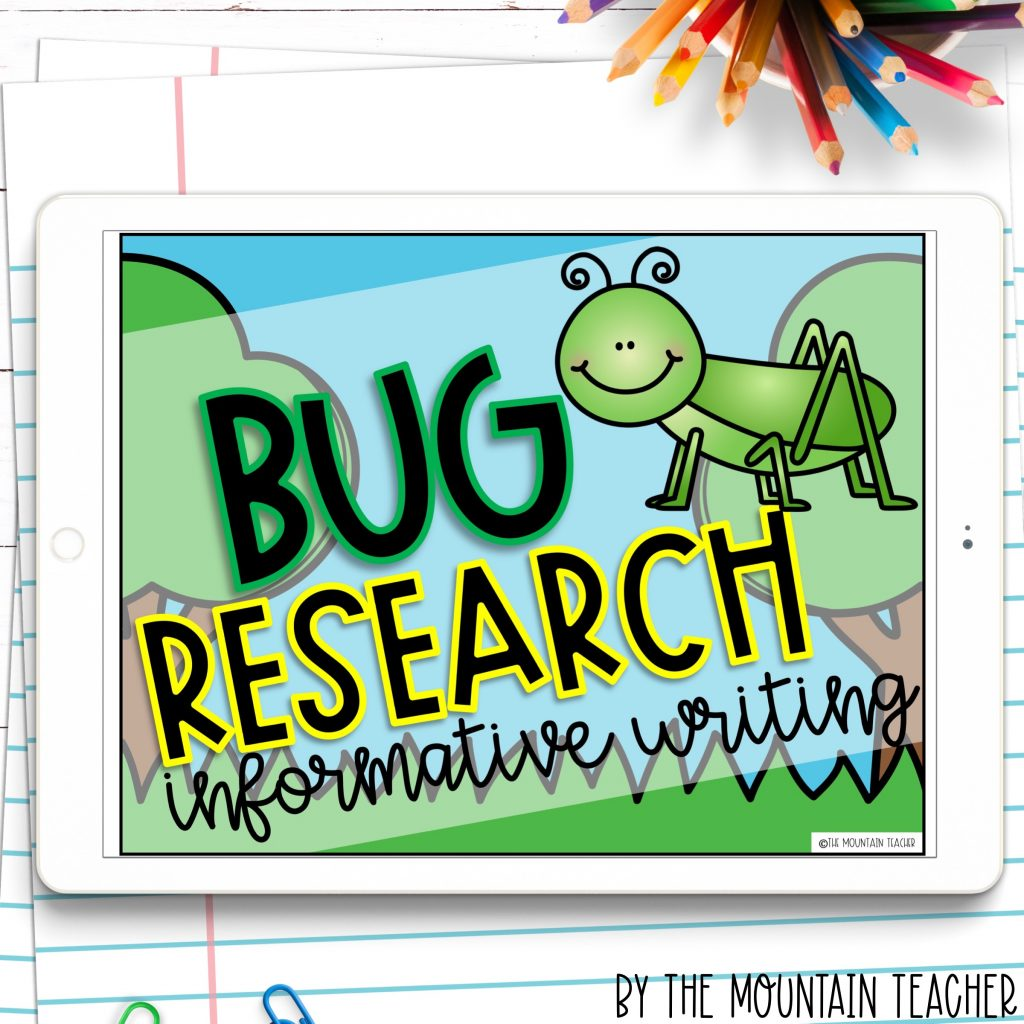 Bug research digital informative writing activity