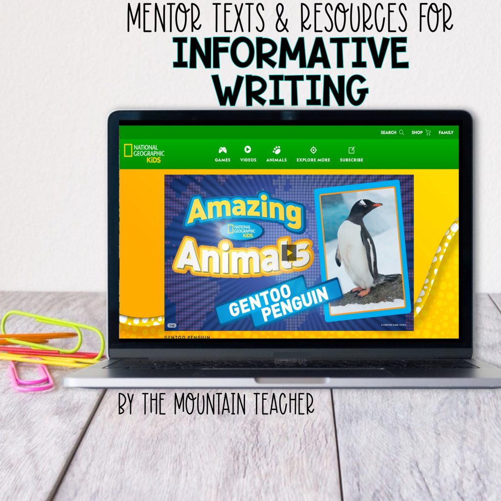 Mentor texts and resources for informative writing - National Geographic Kids