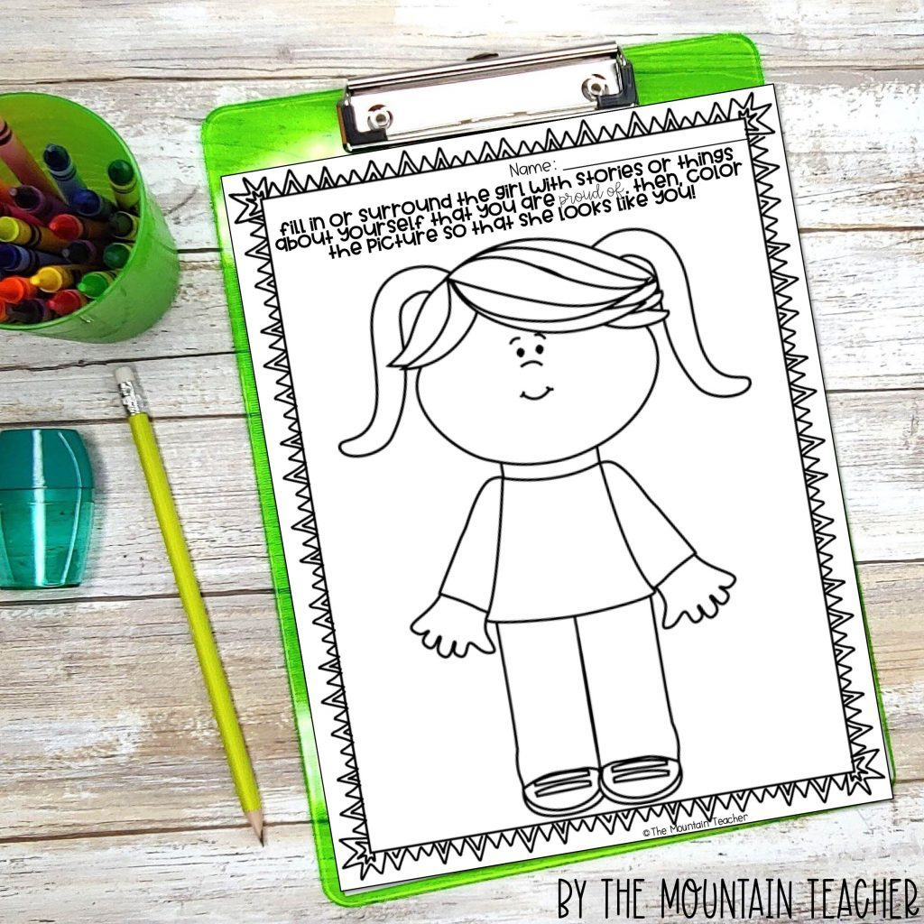 Back to school Character Building Activities - inside vs outside for ruby the copycat