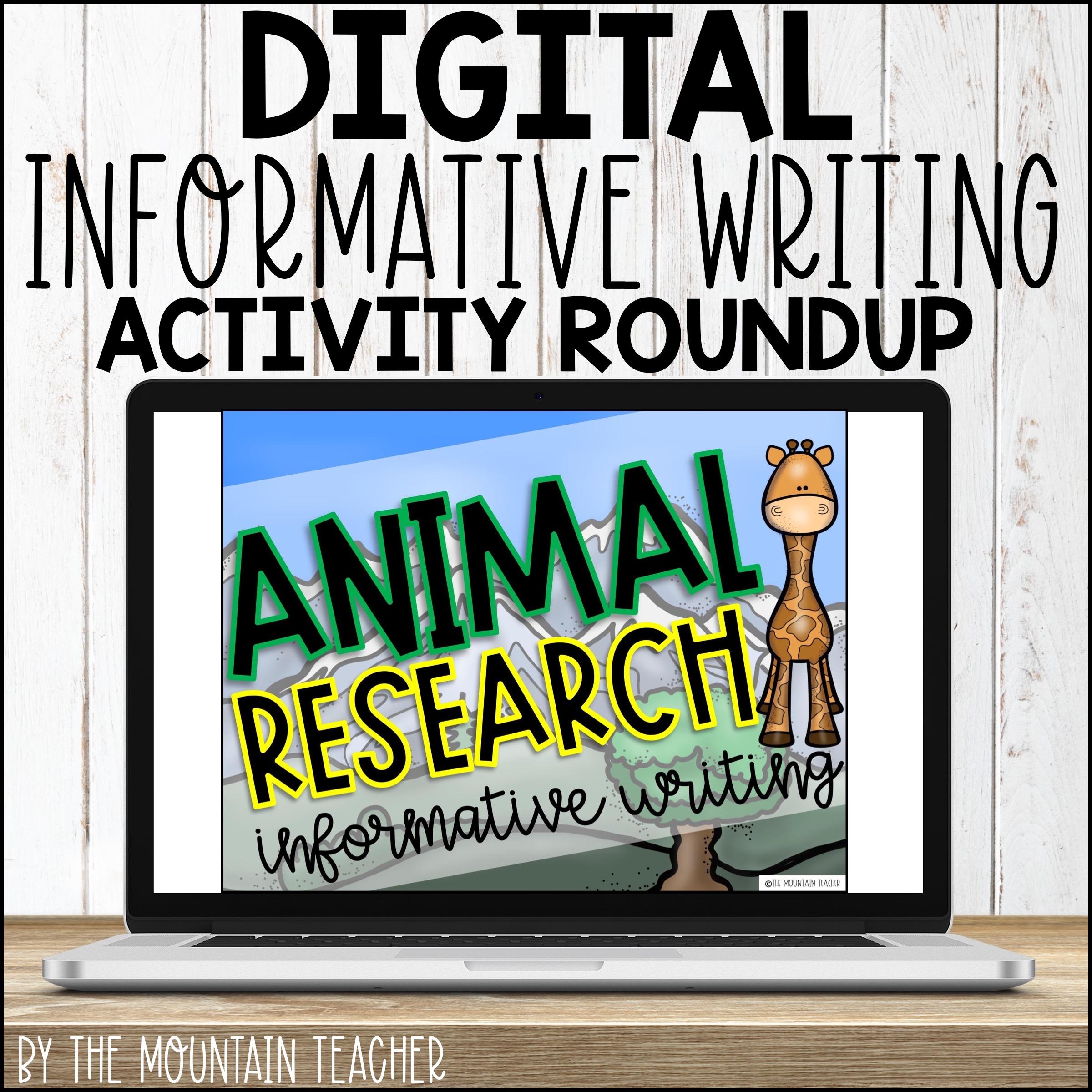 DIGITAL Informative Writing Activity Roundup