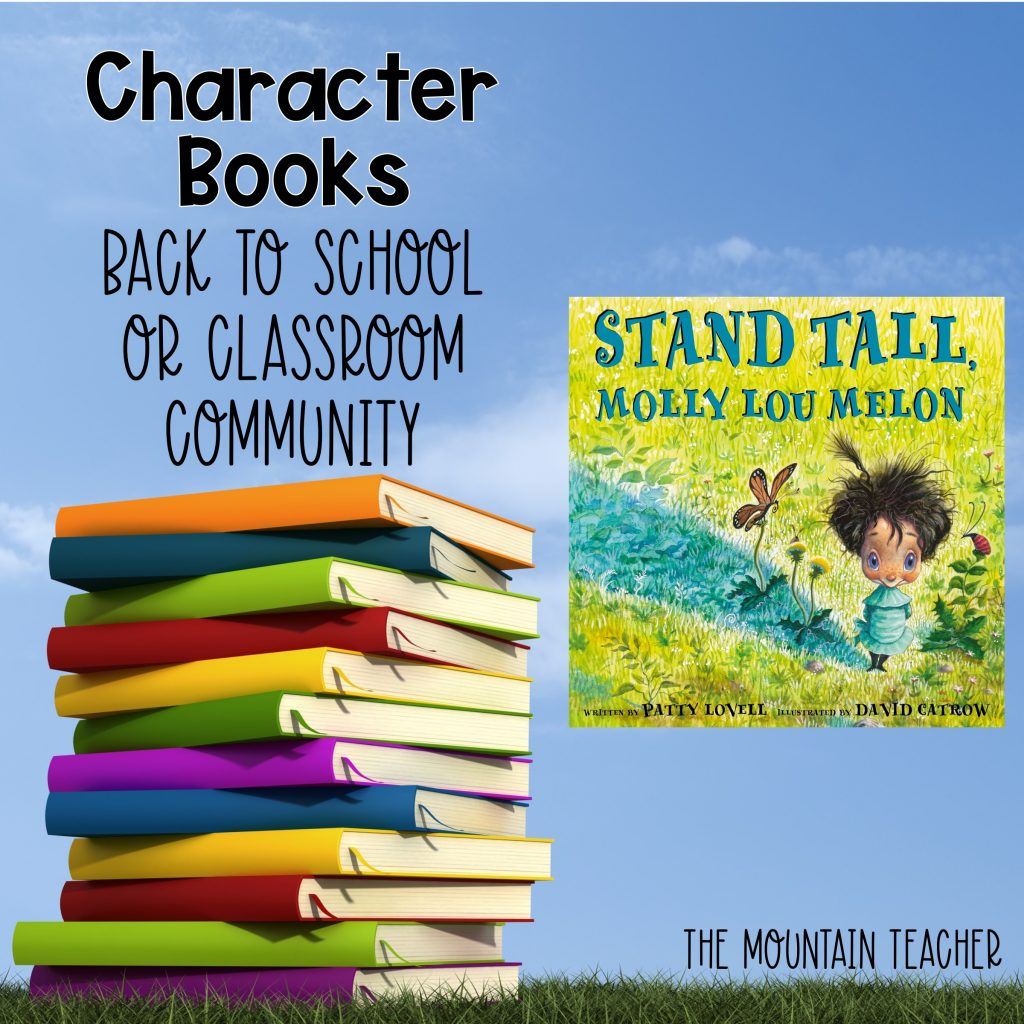 Stand Tall Molly Lou Melon Character Books Back to School or Classroom Community 1111