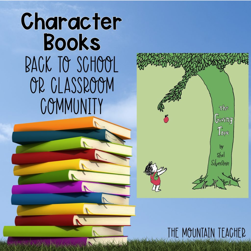 The Giving Tree Character Books Back to School or Classroom Community 1212