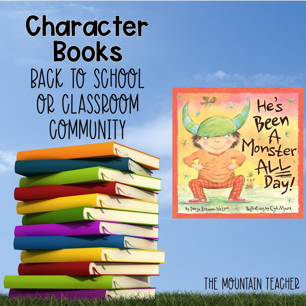 He's Been a Monster All Day Character Books Back to School or Classroom Community 303