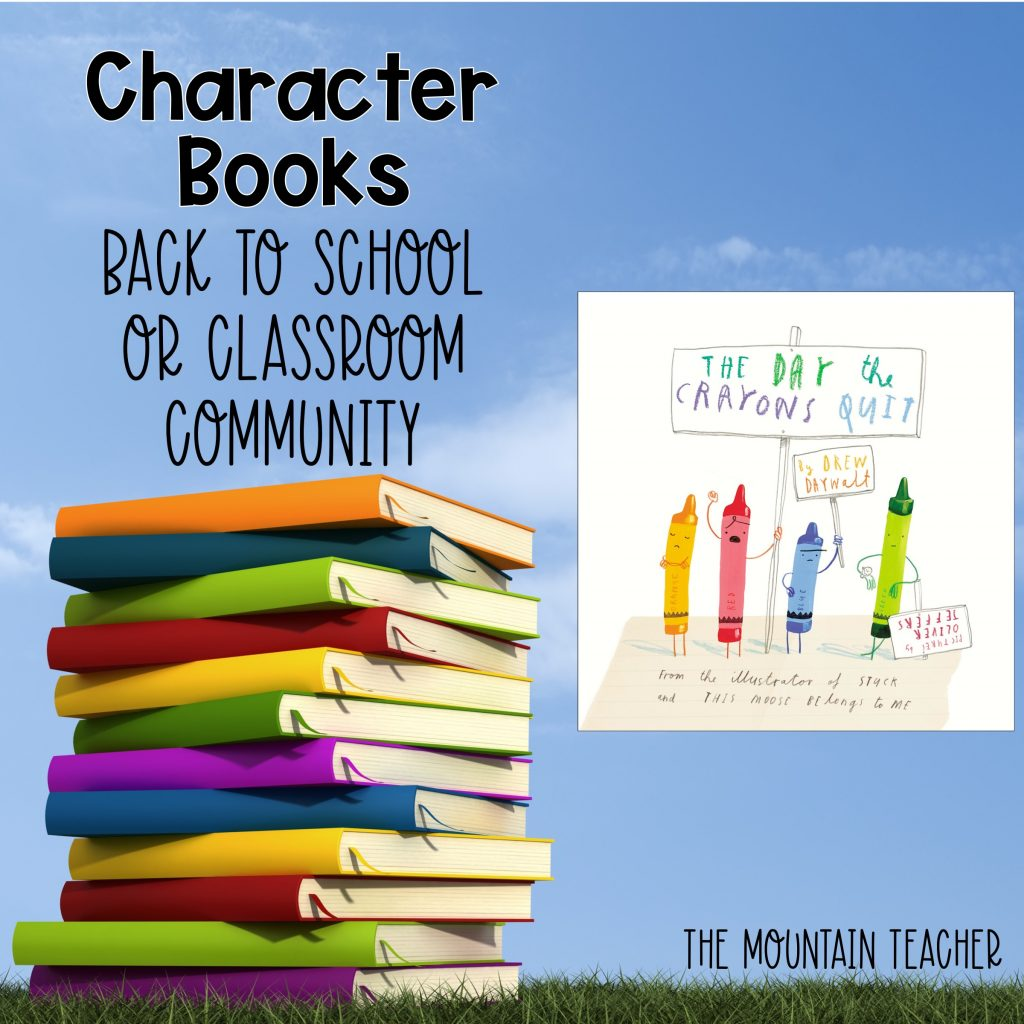 The Day The Crayons Quit Character Books Back to School or Classroom Community 404
