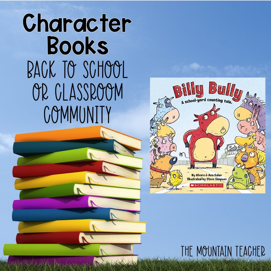 Billy Bully Character Books Back to School or Classroom Community 707