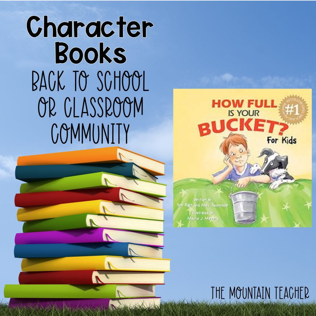 How Full is Your Bucket? Character Books Back to School or Classroom Community 808