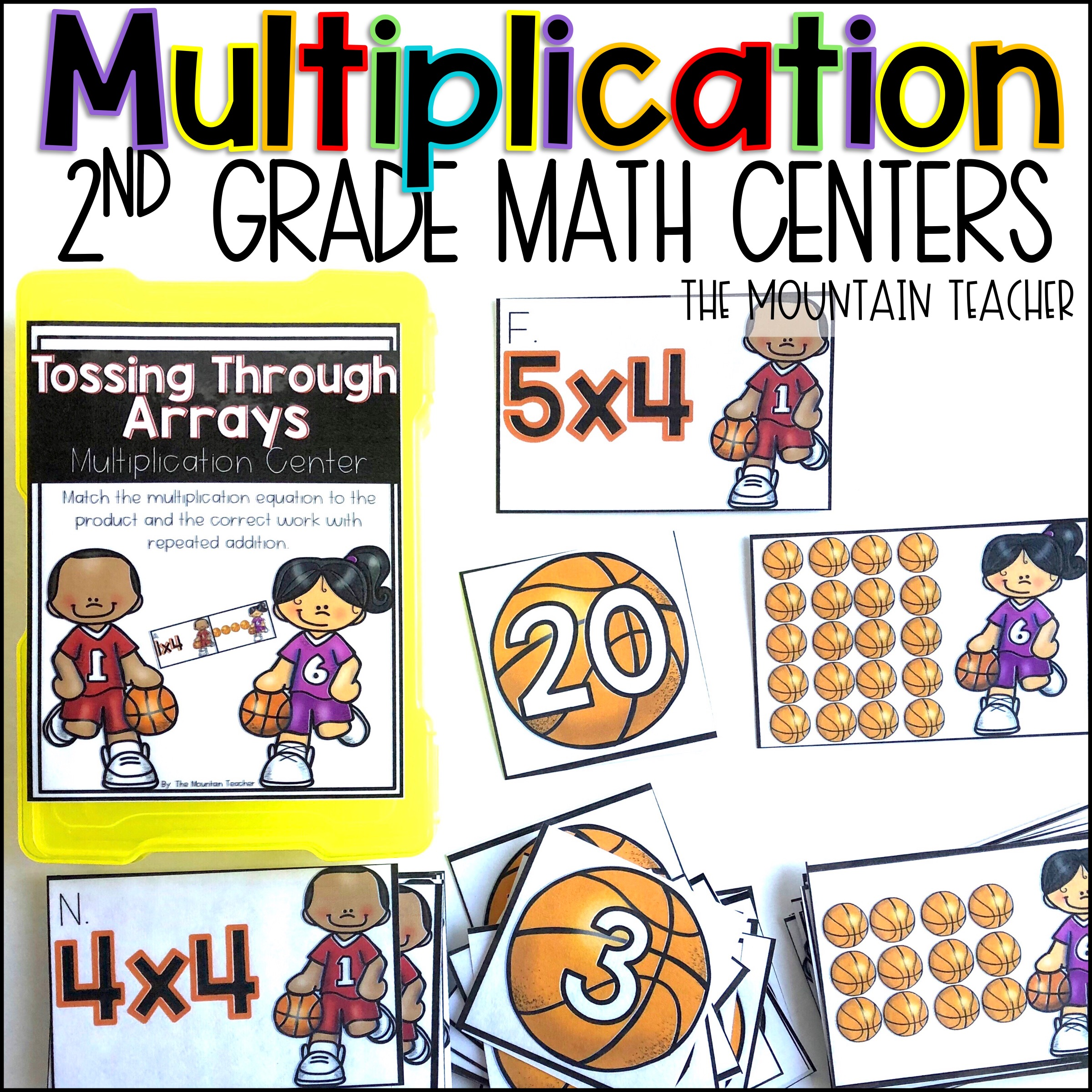 Multiplication Centers for 2nd Grade By The Mountain Teacher