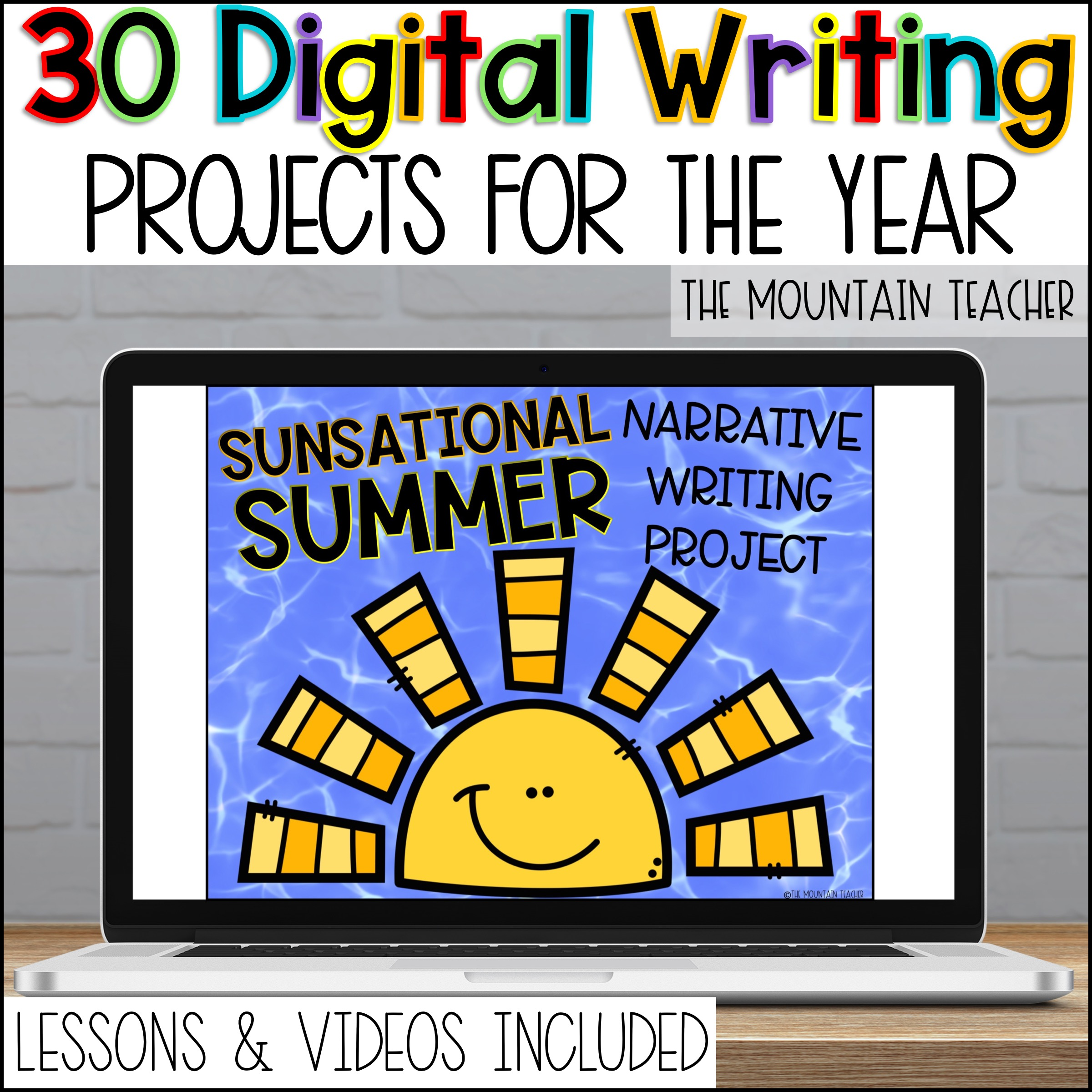 Digital Year of Writing Activities for Informative Narrative Opinion How To By The Mountain Teacher 2nd Grade