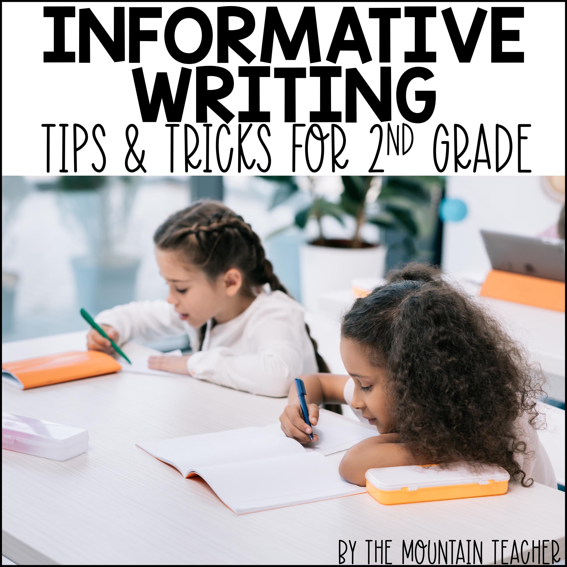 Teaching Informative Writing in 2nd Grade